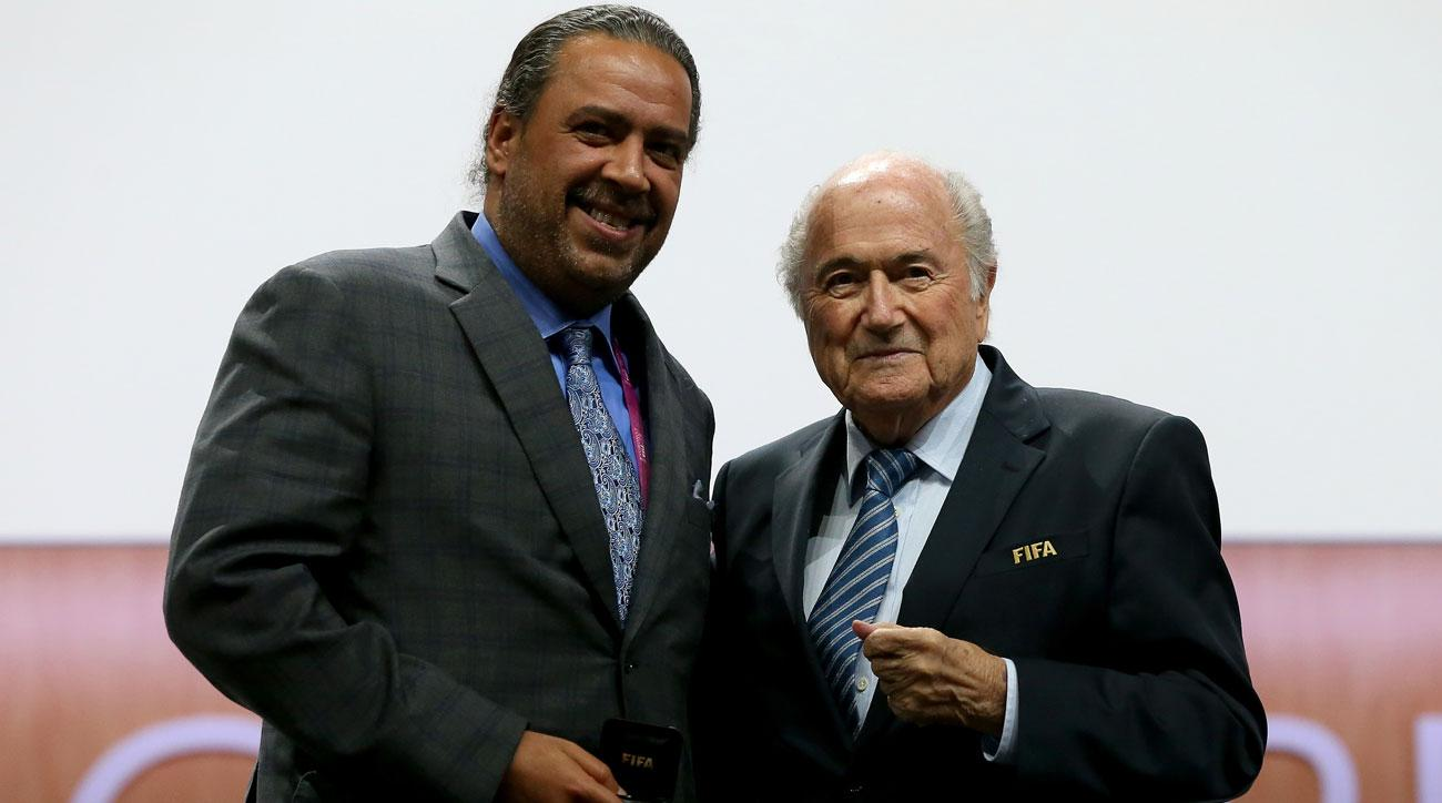 Sheikh Ahmed and Sepp Blatter at FIFA