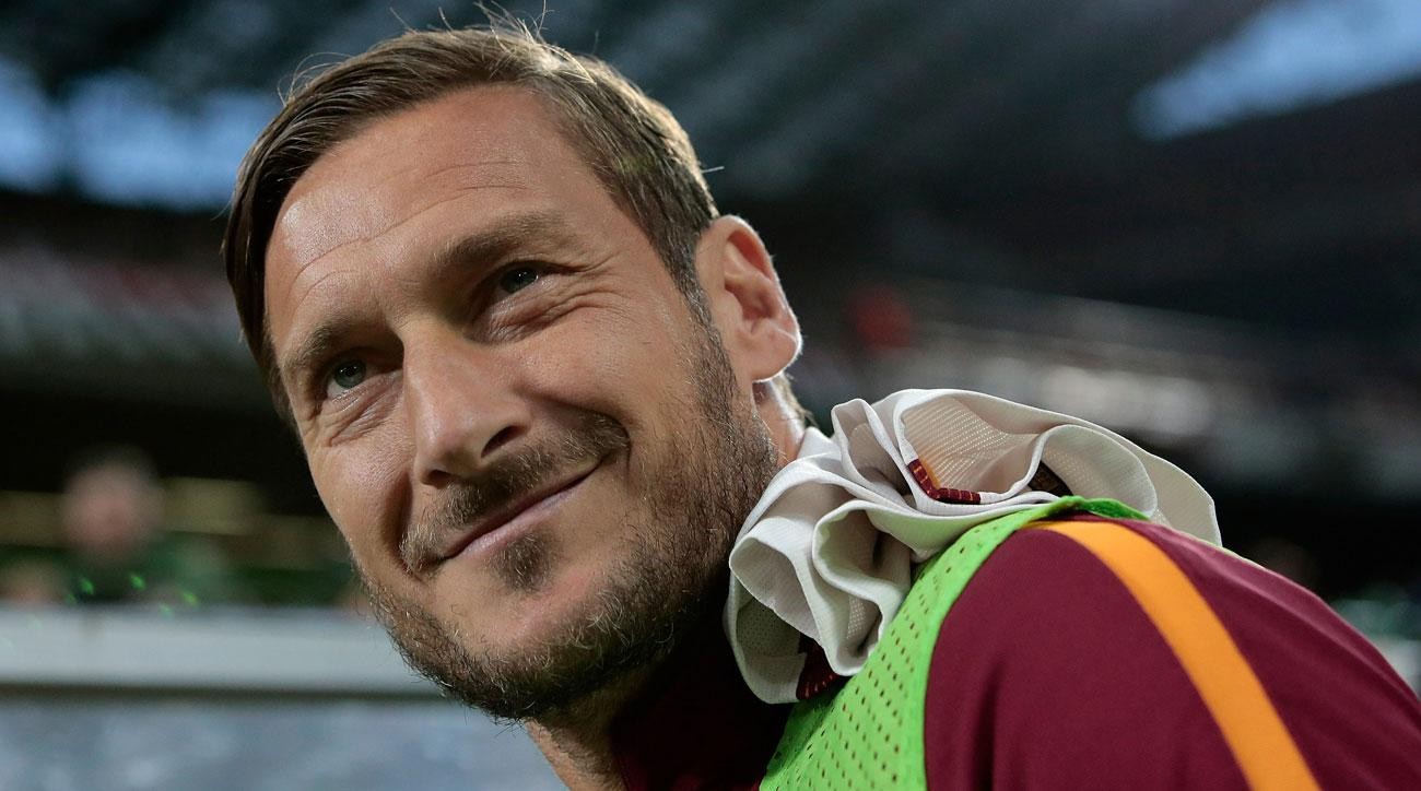 Francesco Totti is retiring at the end of Roma's season