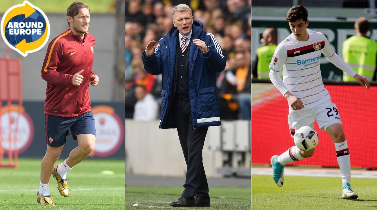 Francesco Totti, David Moyes, Kai Havertz make headlines around Europe