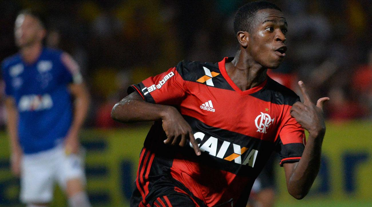Vinicius Junior could be headed from Flamengo to Real Madrid once he turns 18