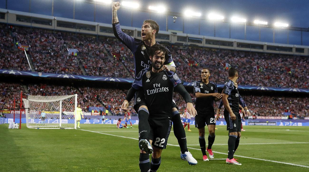 Isco scores a key away goal for Real Madrid vs. Atletico Madrid in the Champions League semifinals