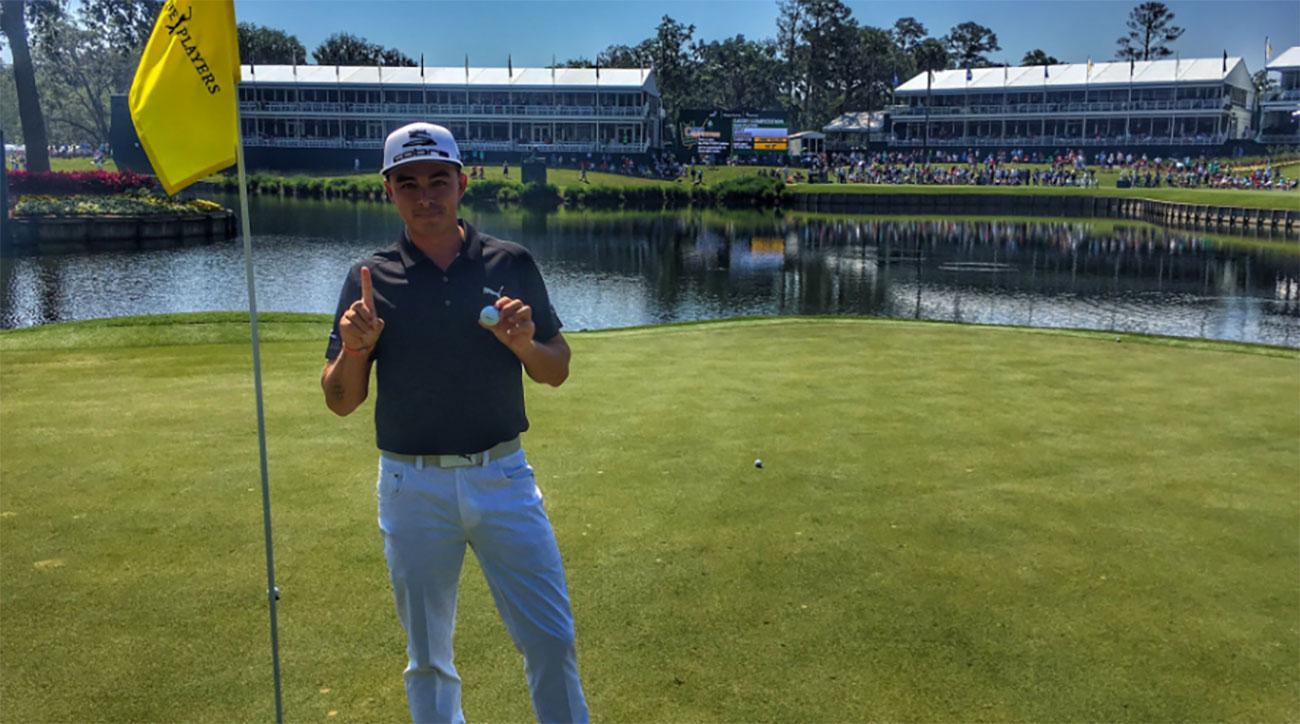 Rickie Fowler aced the par-3 17th at TPC Sawgrass during a practice round Wednesday.