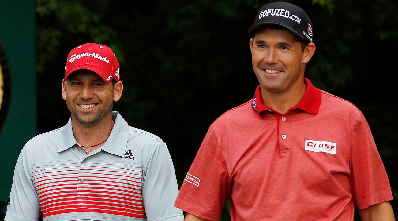 Sergio Garcia and Padraig Harrington at the 2013 U.S. Open.