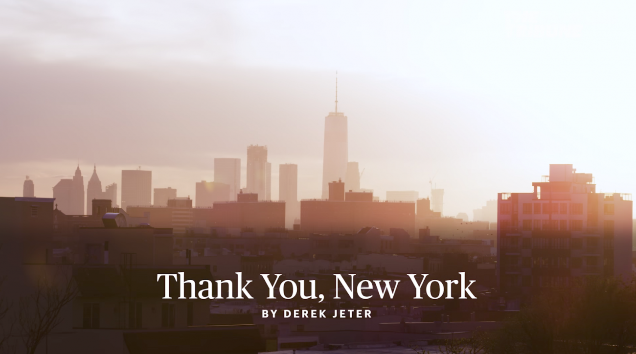 Derek Jeter: Thank You New York letter, video