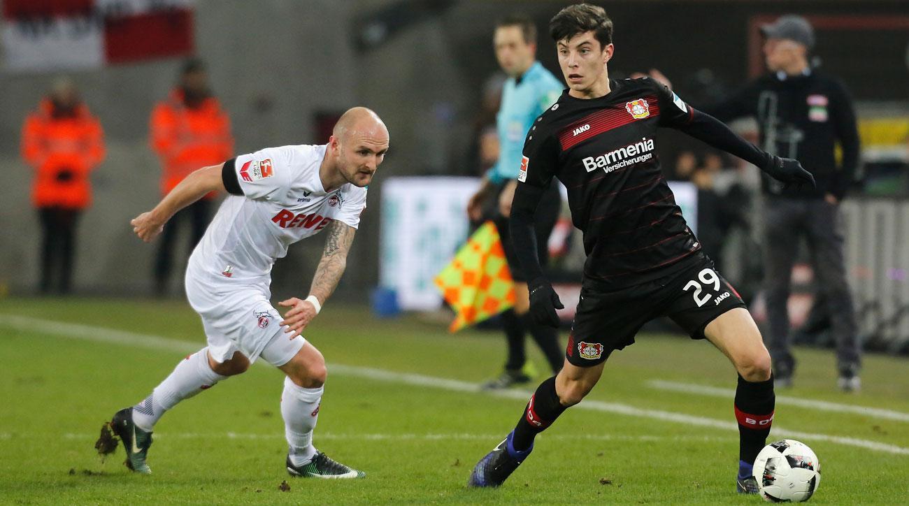 Bayer Leverkusen's Kai Havertz is a rising star for Germany