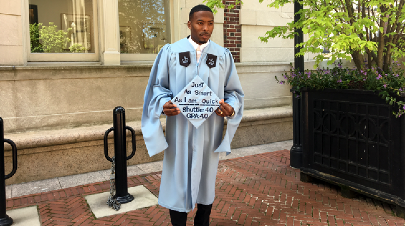 Andrew Hawkins received a master's degree in sports management from Columbia.