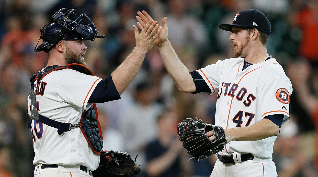 Brian McCann and Chris Devenski, Houston Astros