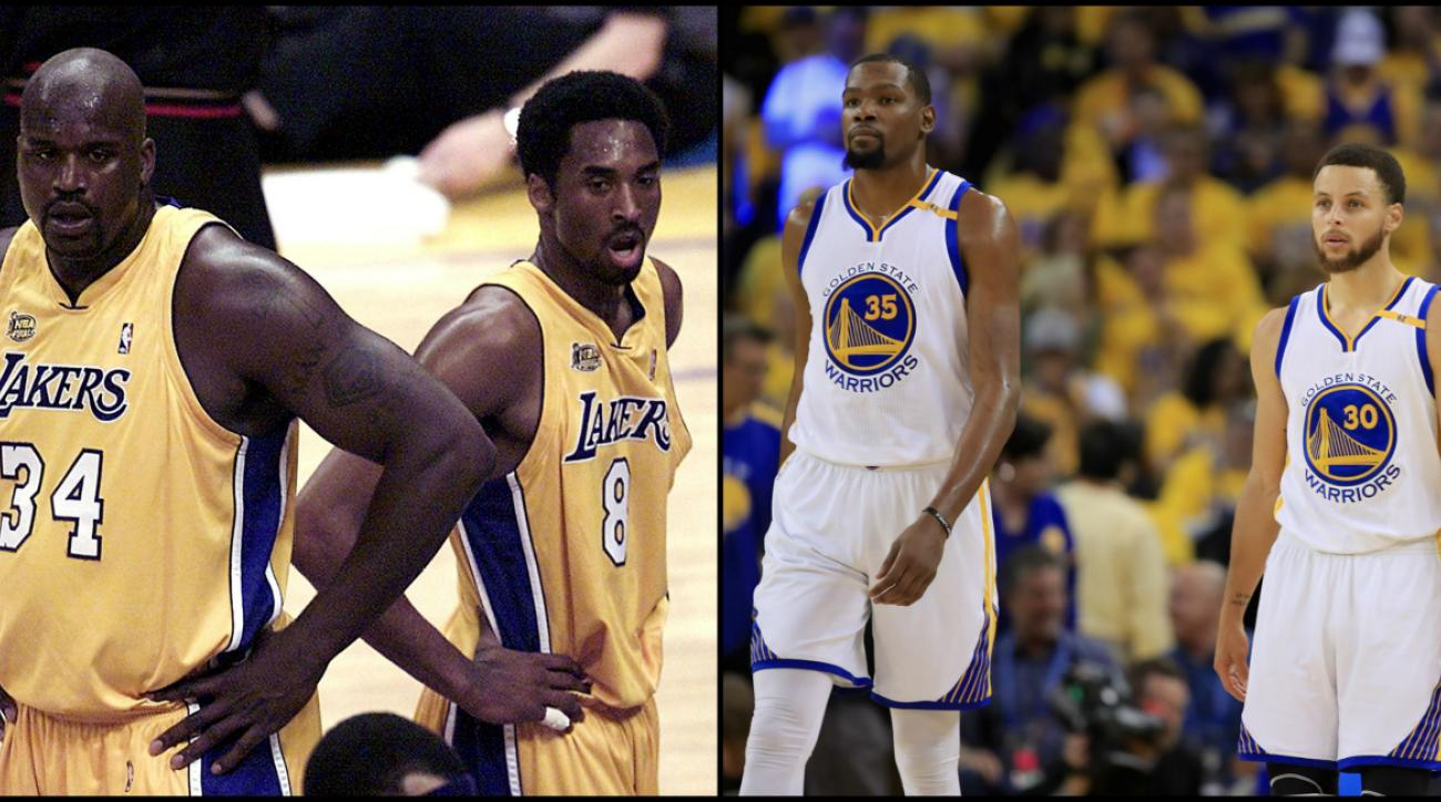 2001 Los Angeles Lakers 2017 Warriors Nba Playoffs Comparison Sicom