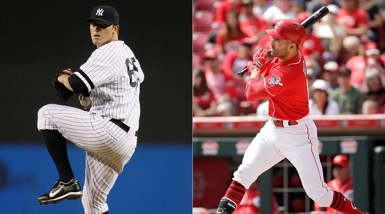 Phil Hughes, New York Yankees; Joey Votto, Cincinnati Reds