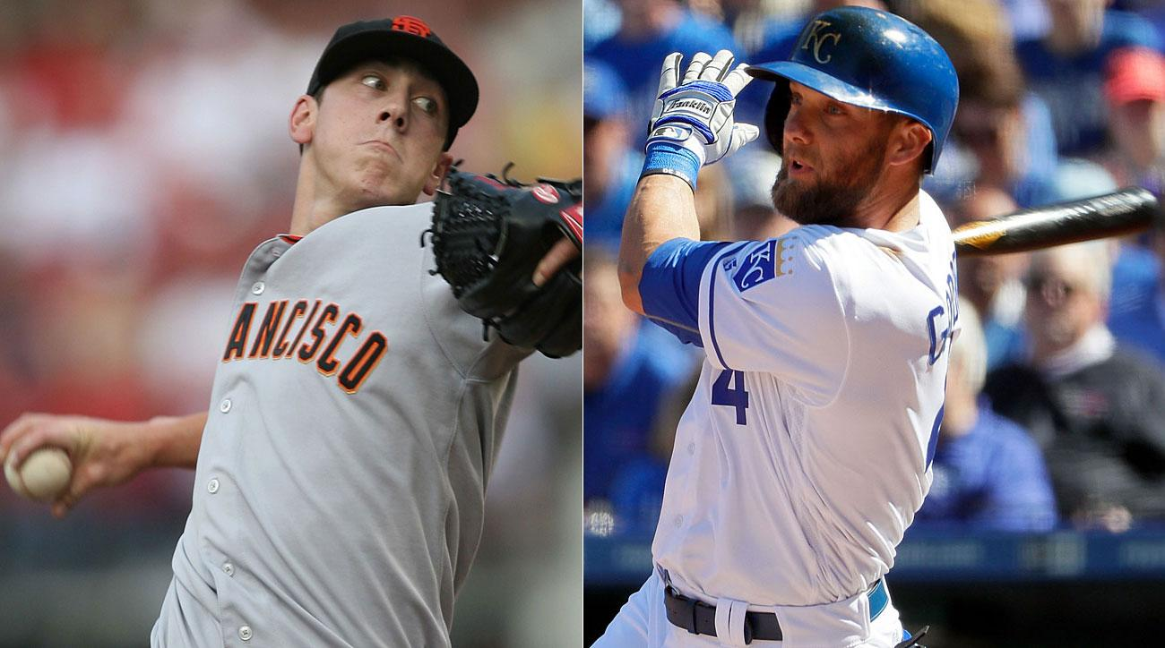 Tim Lincecum, San Francisco Giants; Alex Gordon, Kansas City Royals