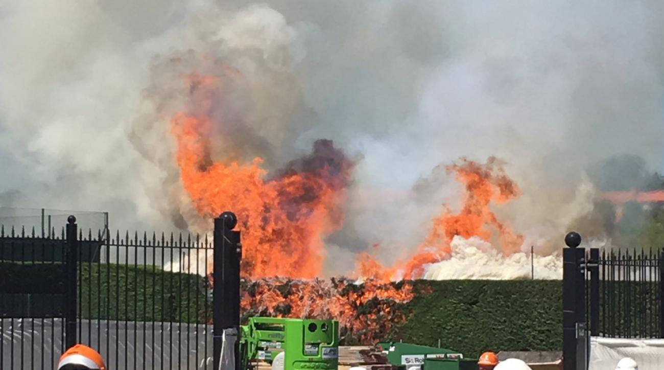 Wimbledon fire: Blaze rages at tennis courts