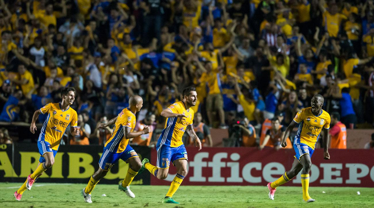 Andre-Pierre Gignac scores twice for Tigres to force a draw in the Liga MX final first leg vs. Chivas