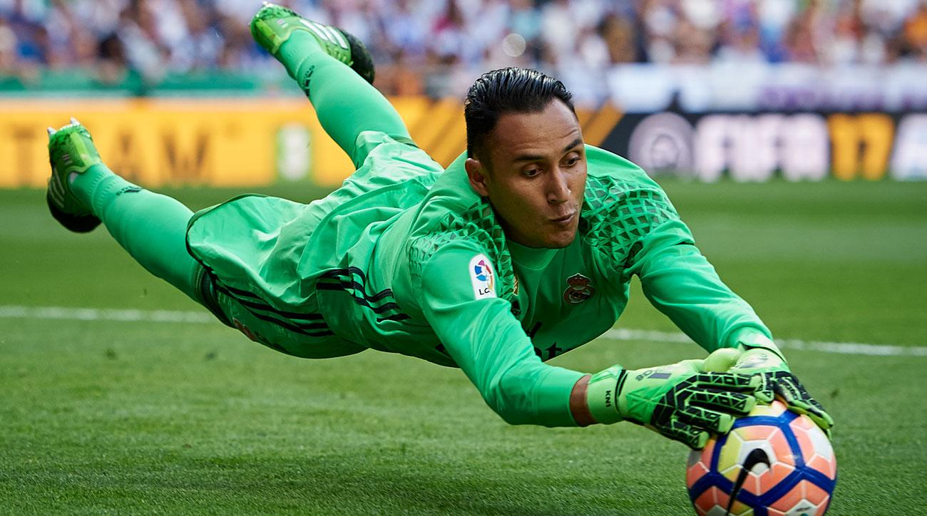 Keylor Navas will start in goal for Real Madrid in the Champions League final
