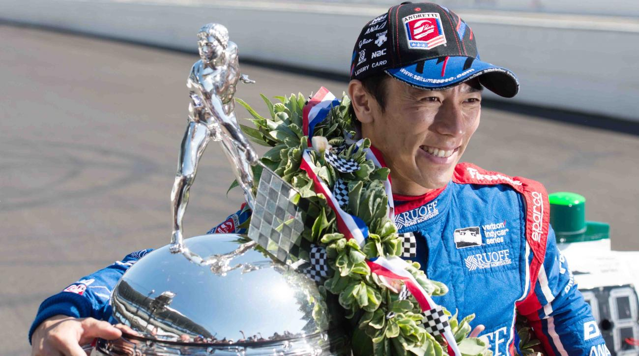 Takuma Sato grabs pole for 2nd race at Detroit Grand Prix