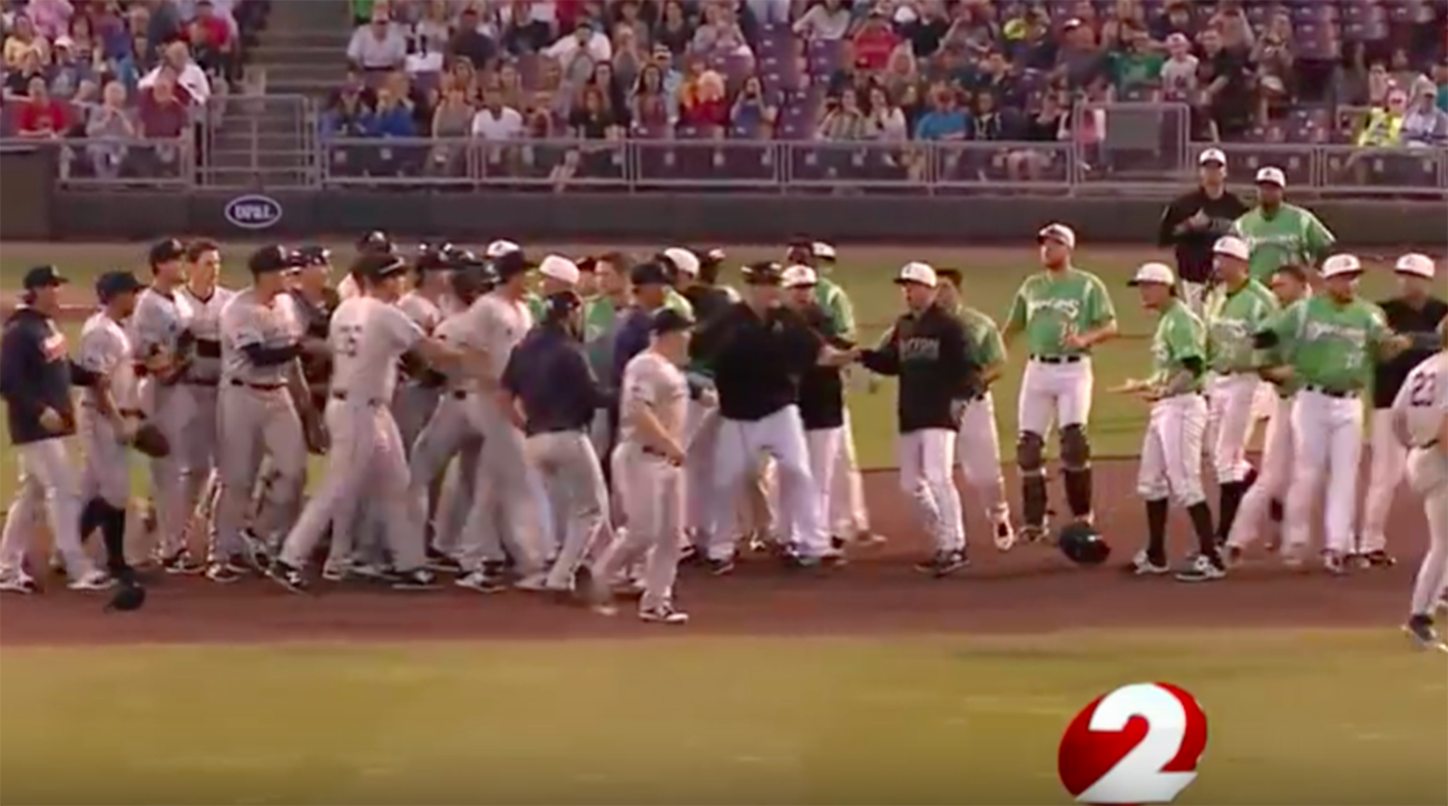 Minor leaguer suspended 30 games for throwing ball into on-field brawl