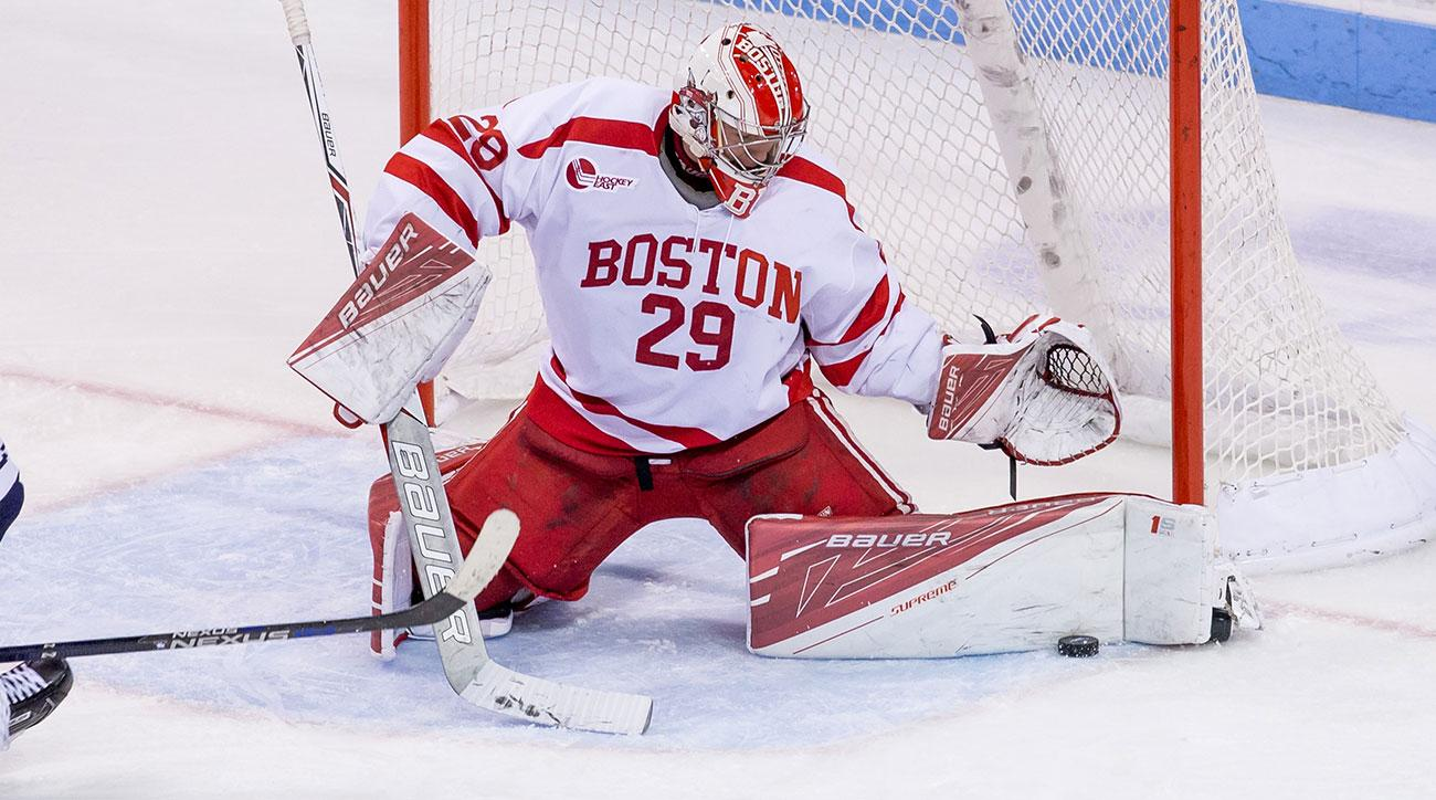 Hockey East: BU's Top-ranked Lakeville, MN Goalie Prospect Jake Oettinger Ready To Realize His Next Dream At NHL Draft (video)