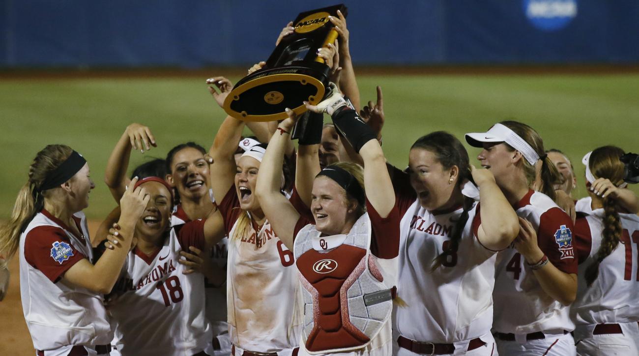 oklahoma wins womens college world series softball