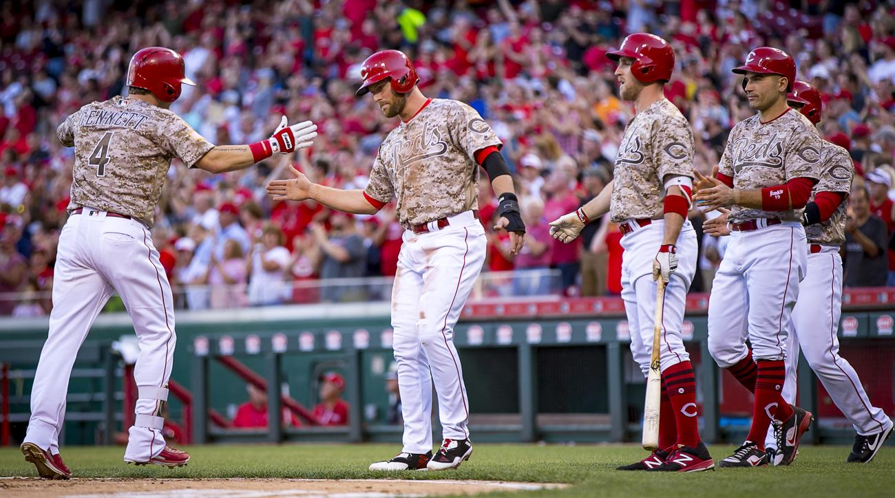 Scooter Gennett hits four home runs, collects 10 RBIs vs ...