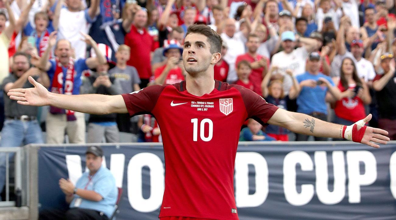 Christian Pulisic scores twice for the USA vs. Trinidad & Tobago