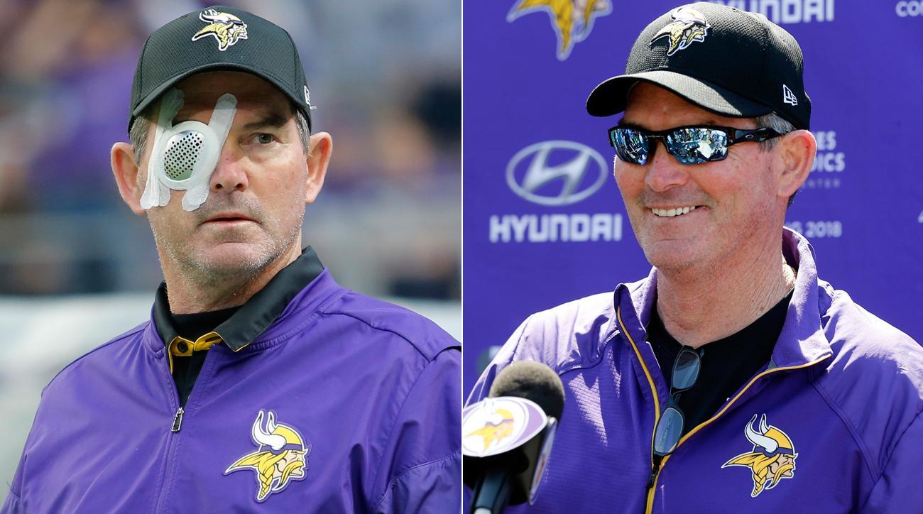 Minnesota Vikings coach Mike Zimmer on eye problems  1798e5431