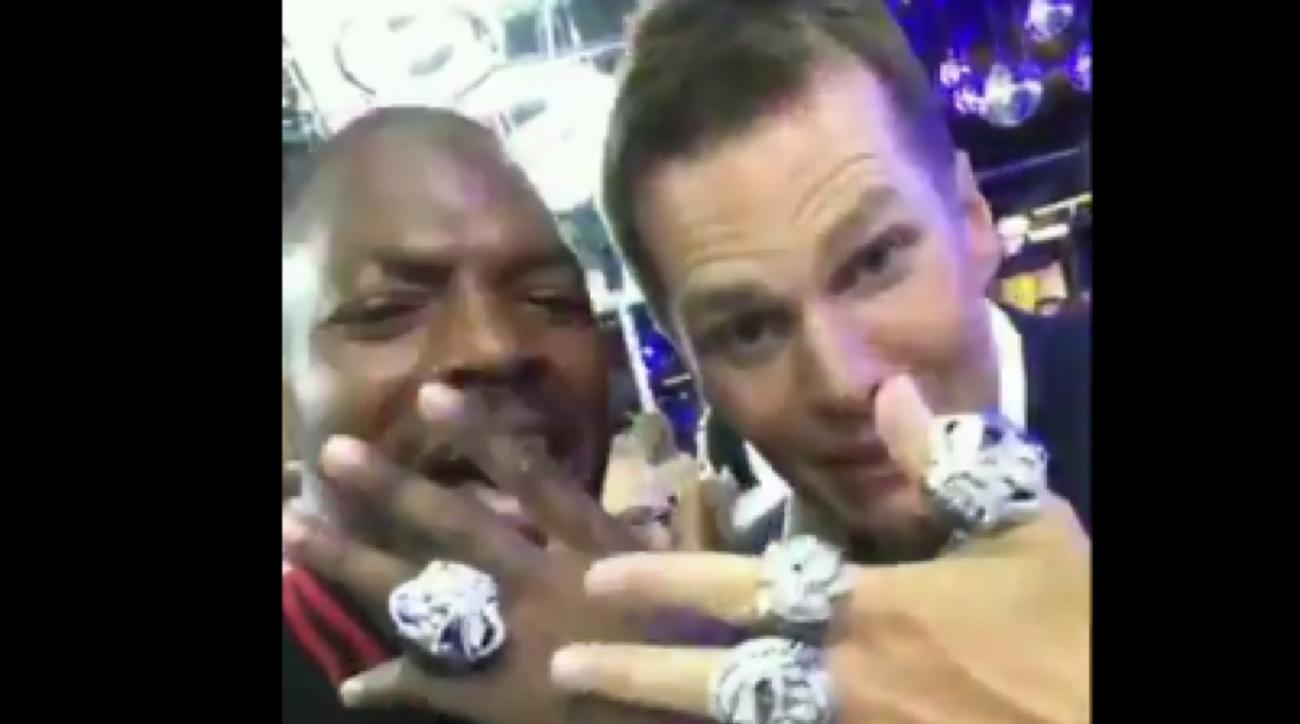 Tom Brady Shows Off All Five Super Bowl Rings Video