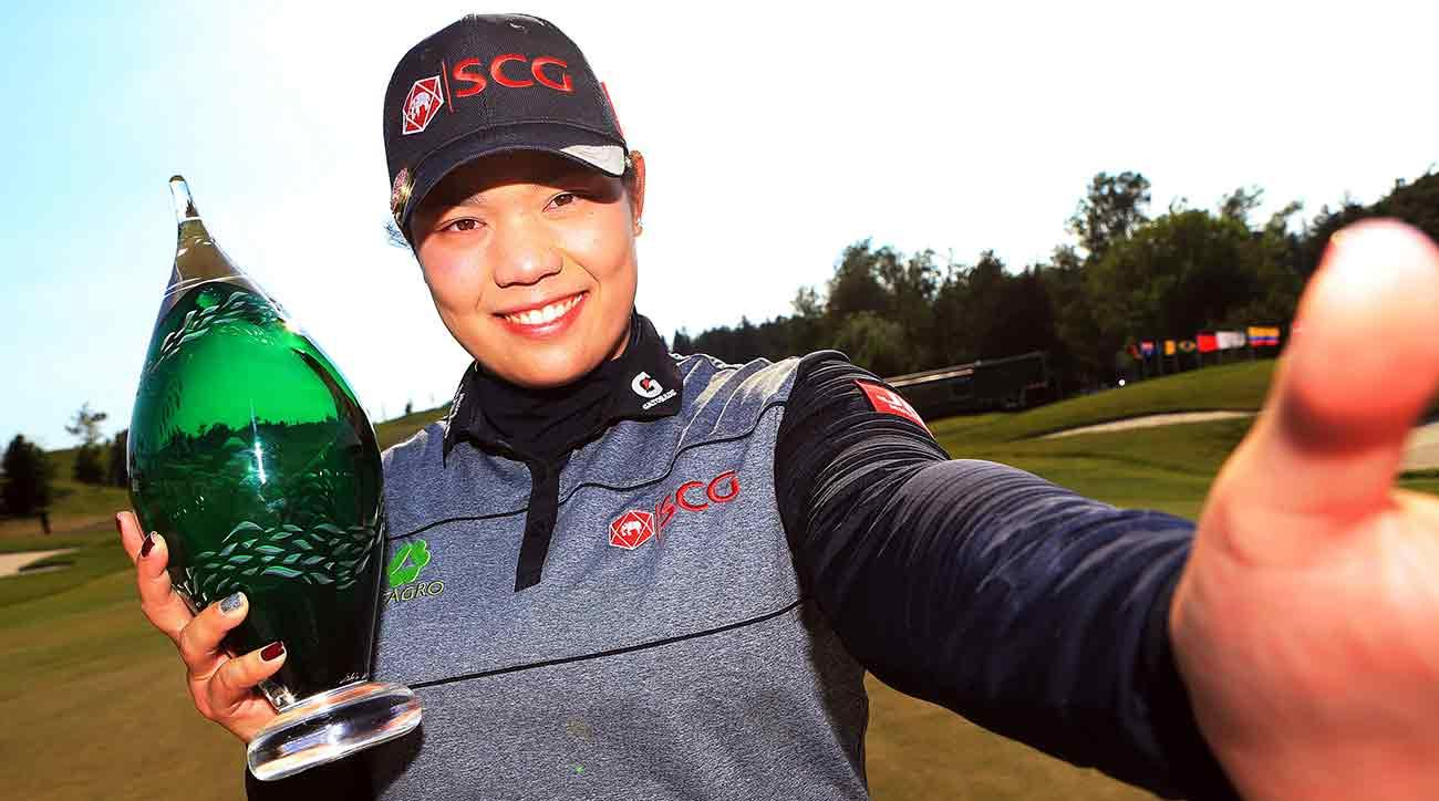 Ariya Jutanugarn made a birdie on the first playoff hole Sunday.
