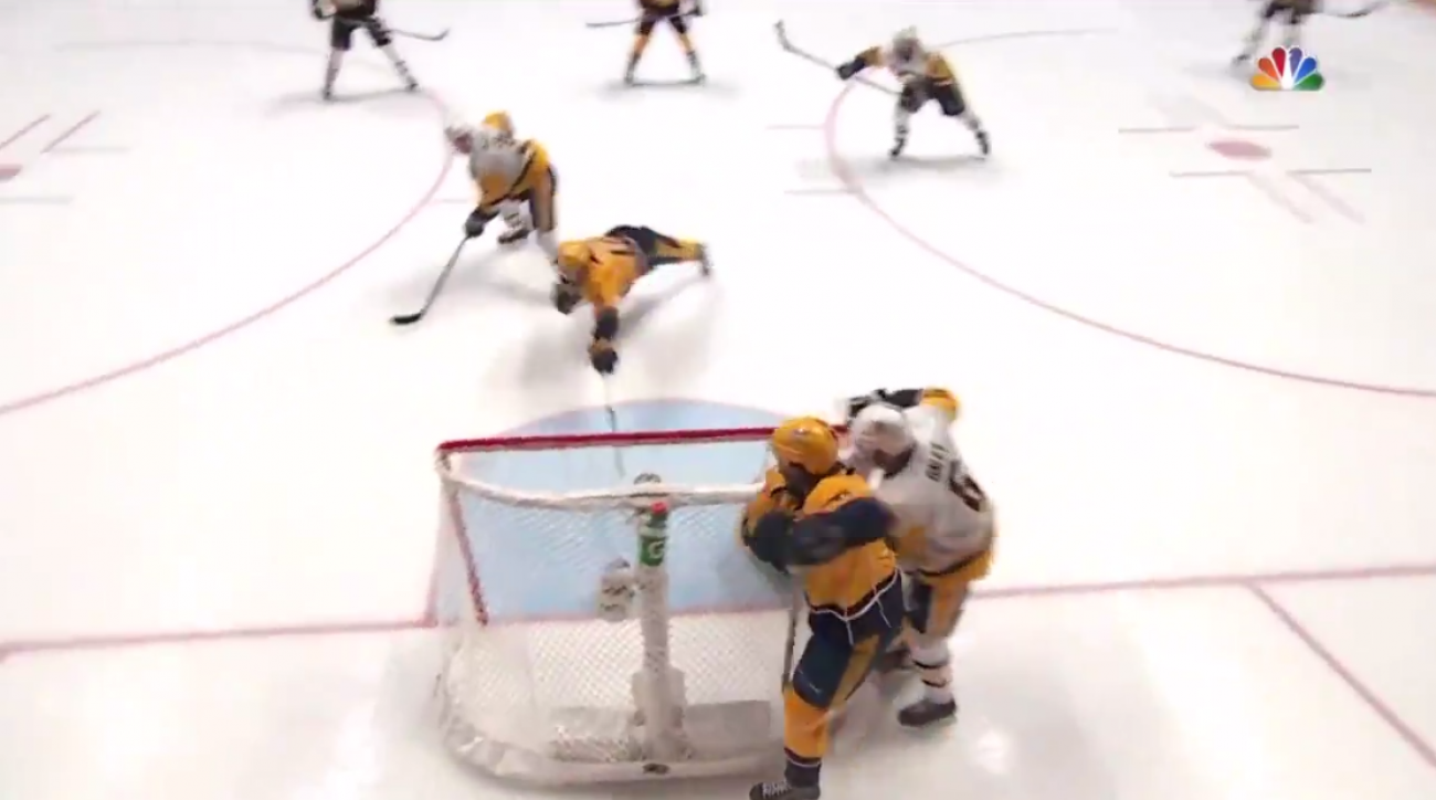 Predators goal waved off by whistle vs Penguins (video)