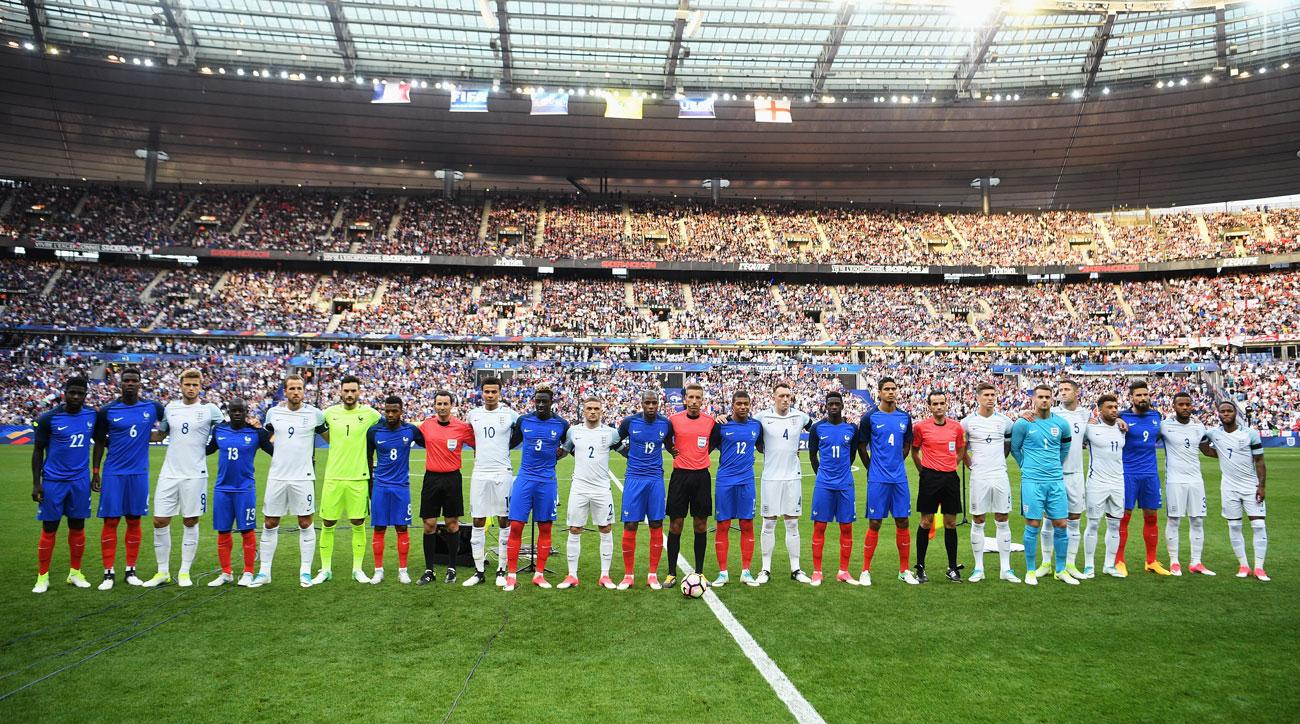 France, England show unity prior to their friendly in Paris