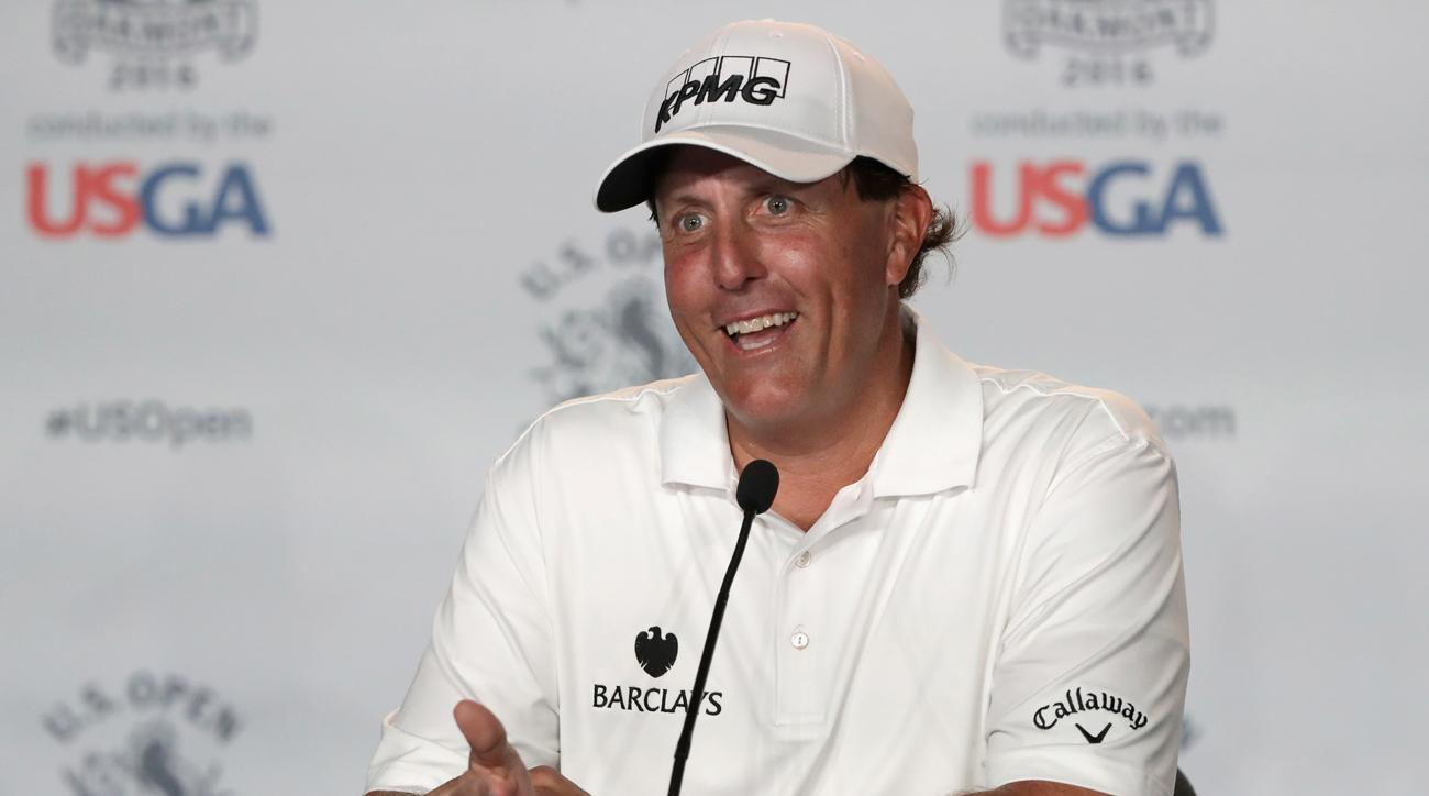 Mickelson didn't make his press conference Tuesday but it's not hard to imagine how it might have gone.