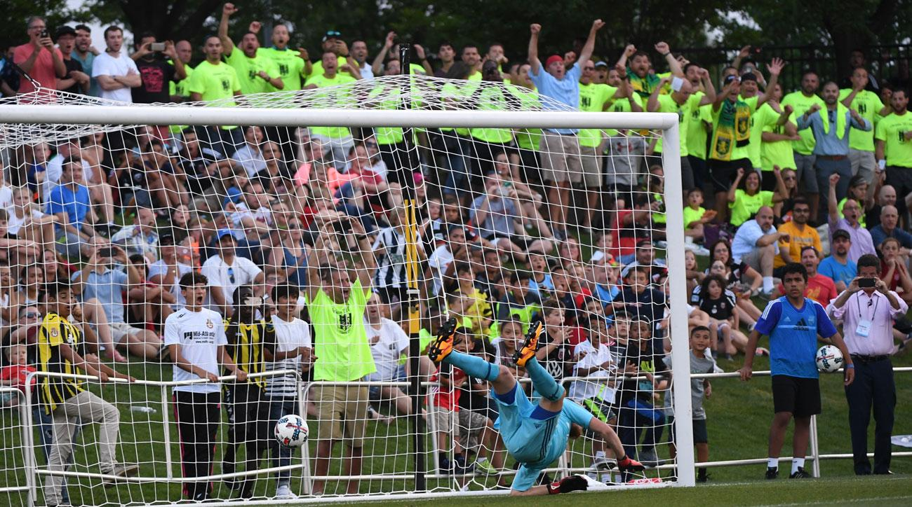 Christos FC scores a goal on MLS's D.C. United in the U.S. Open Cup