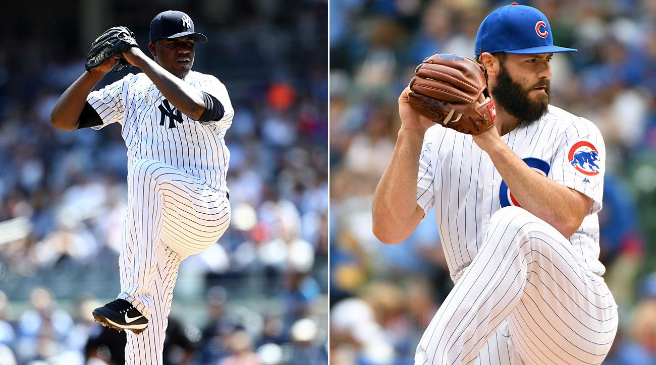 Michael Pineda, New York Yankees; Jake Arrieta, Chicago Cubs