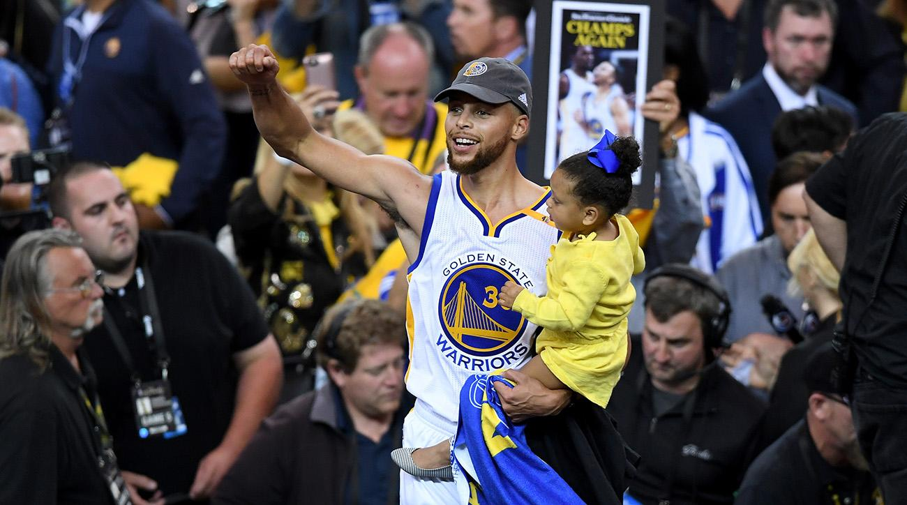 Warriors celebrate National Basketball Association  crown with street parade