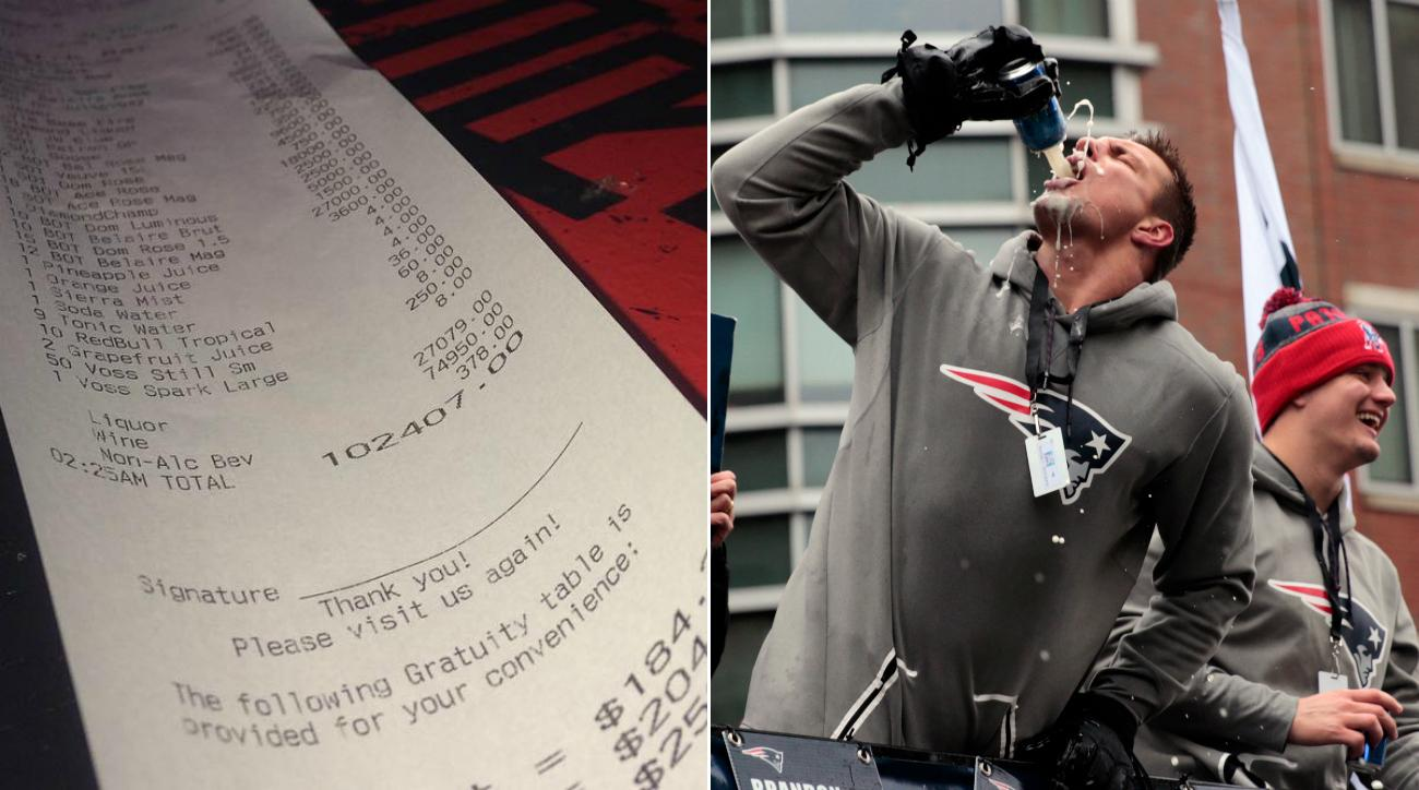 Rob Gronkowski denies racking up $102407 bar tab