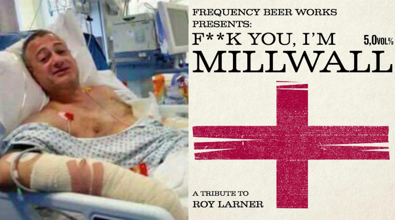 Roy Larner: London attack hero gets Millwall beer