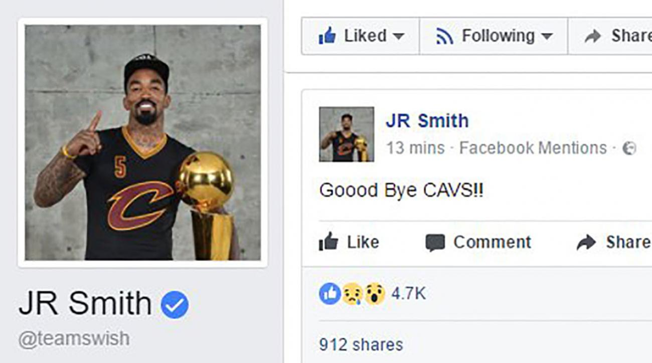 JR Smith hacked again? Cavs guard refutes 'good bye' Facebook post