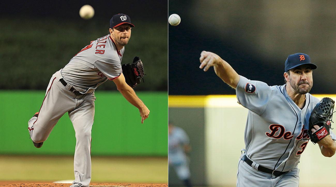 Max Scherzer, Washington Nationals; Justin Verlander, Detroit Tigers