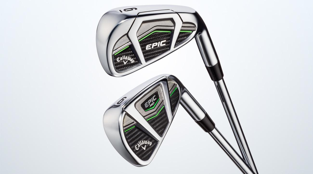 Callaway's Epic irons (top) and Epic Pro irons (bottom).