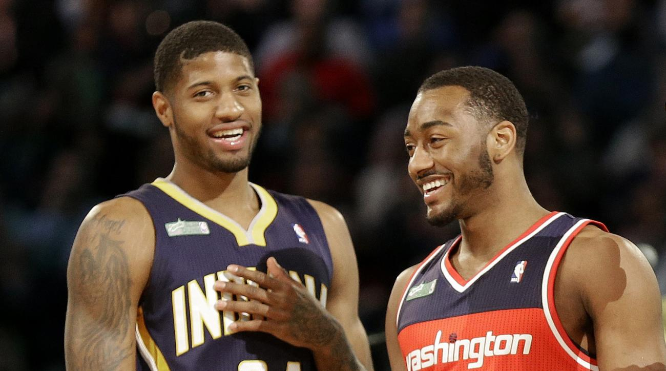 John Wall trying to recruit Paul George to the Wizards