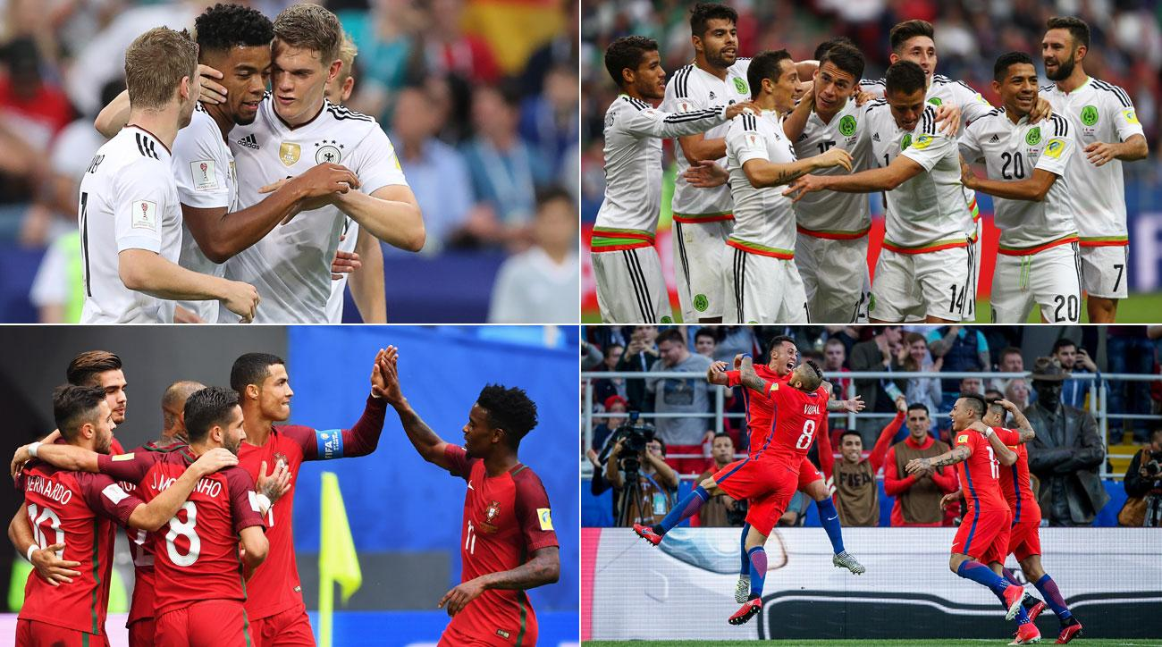 Germany, Portugal, Chile and Mexico will compete in the Confederations Cup semifinals