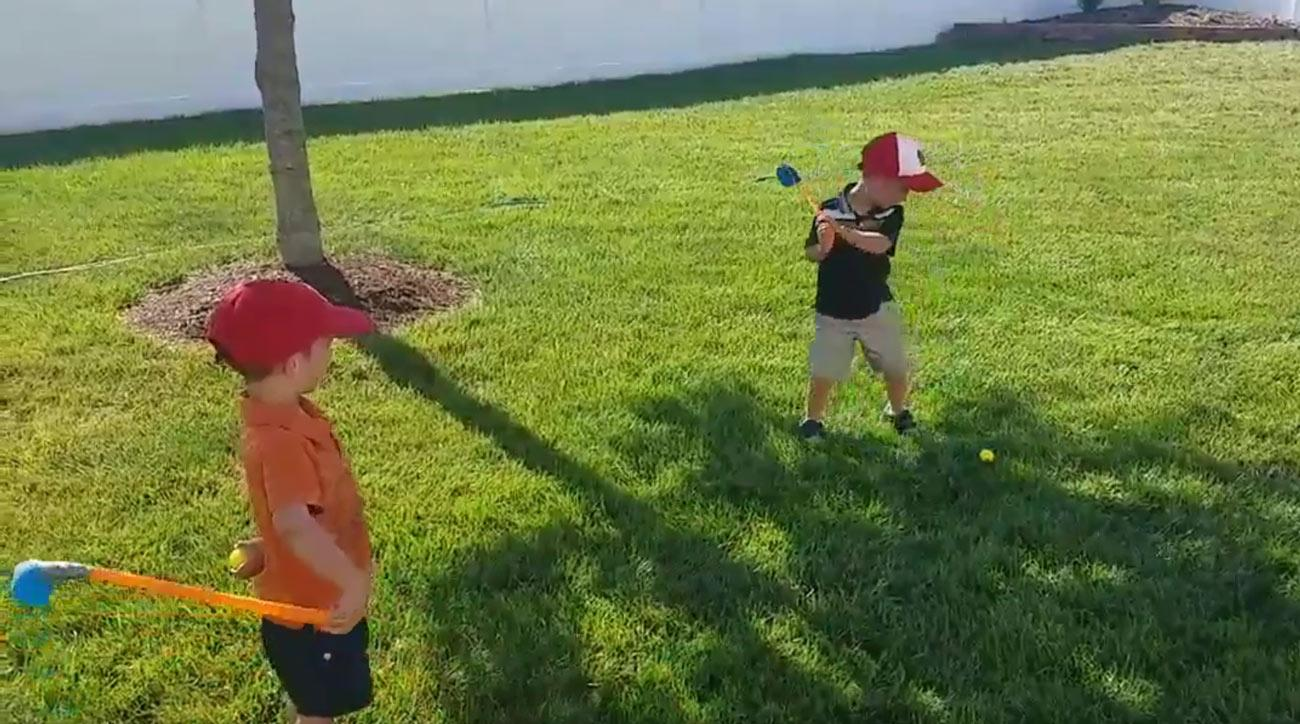 Watch the reenactment of Spieth's epic shot below.