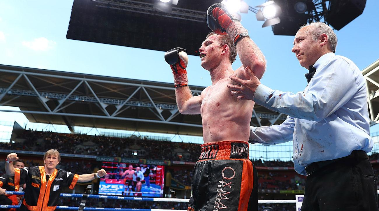 Jeff Horn of Australia celebrates winning against Manny Pacquiao during the WBO World Welterweight Title Fight at Suncorp Stadium on July 2, 2017 in Brisbane, Australia. (Photo by Chris Hyde/Getty Images)