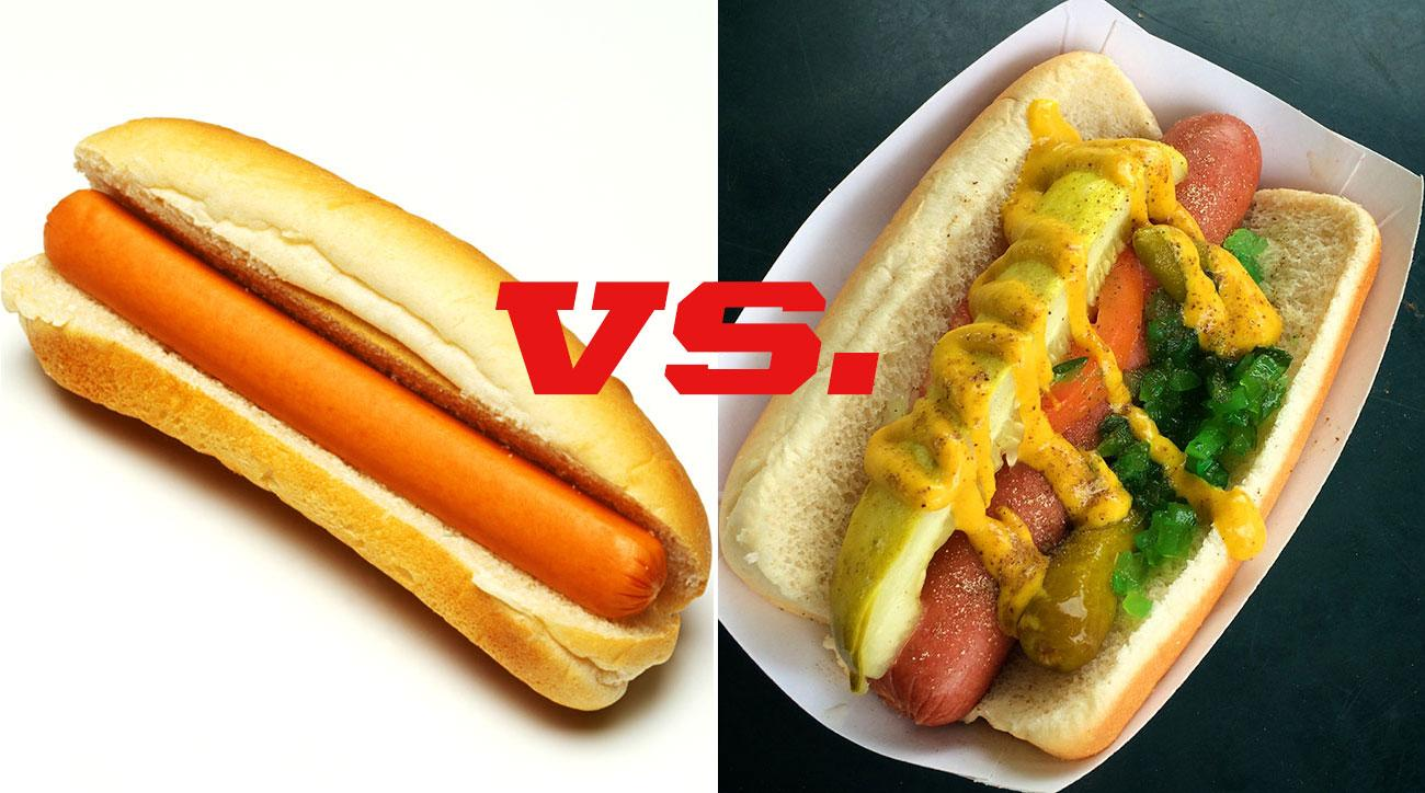 Should hot dogs be eaten with toppings?