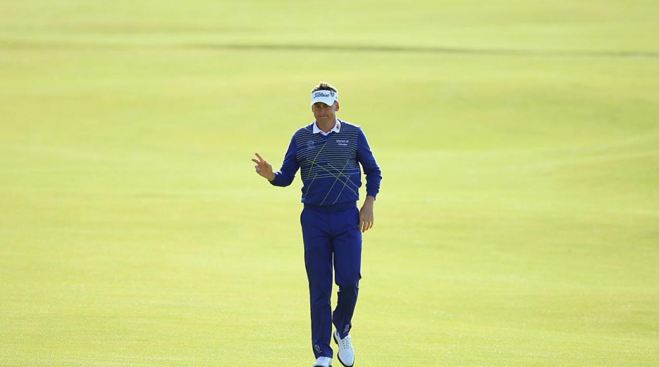 Ian Poulter at the 2015 British Open at The Old Course in St. Andrews, Scotland.
