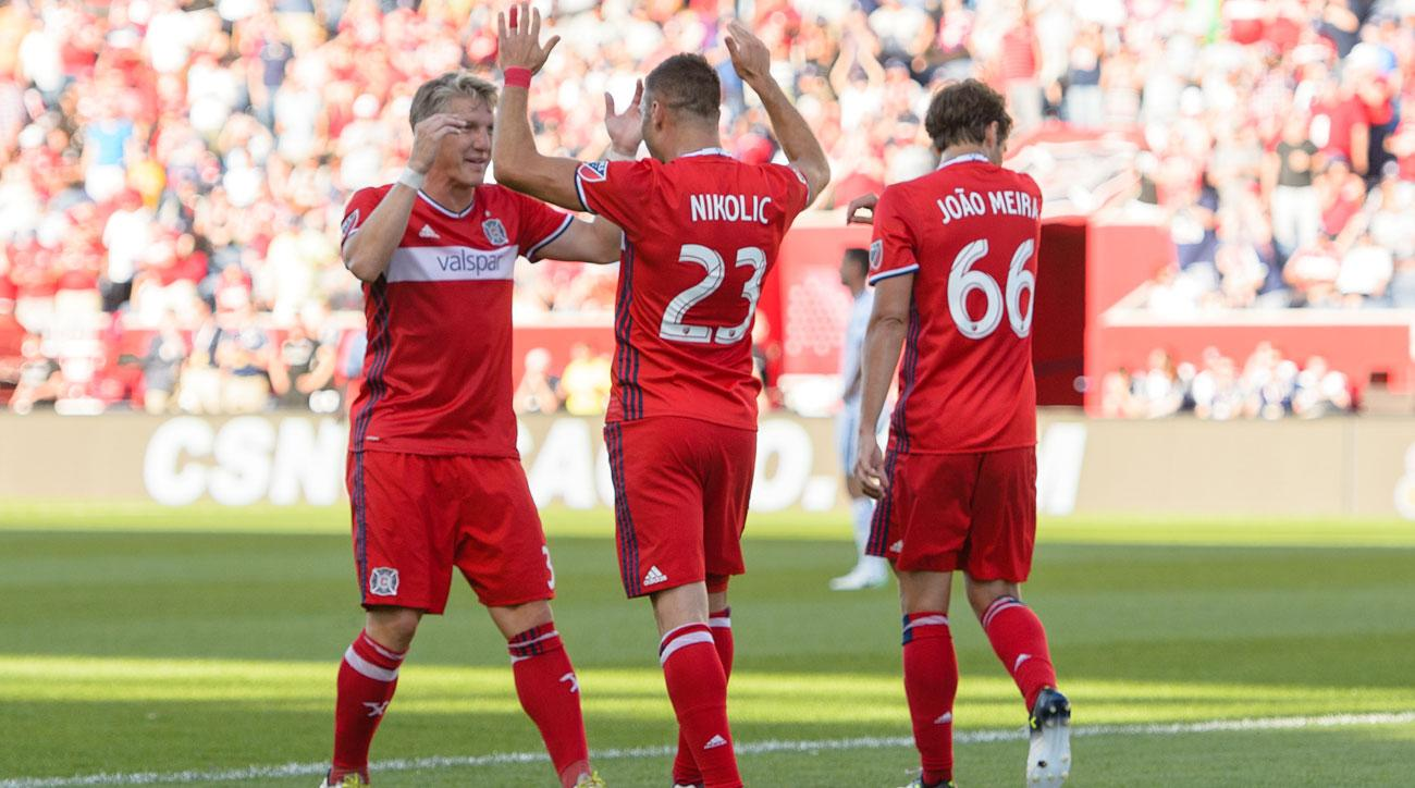 Chicago Fire's Bastian Schweinsteiger and Nemanja Nikolic will suit up at home against Real Madrid in the MLS All-Star Game