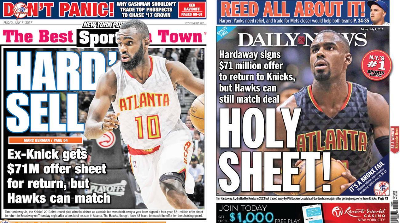 Tim Hardaway Jr: Knicks sign Hawks G to offer sheet