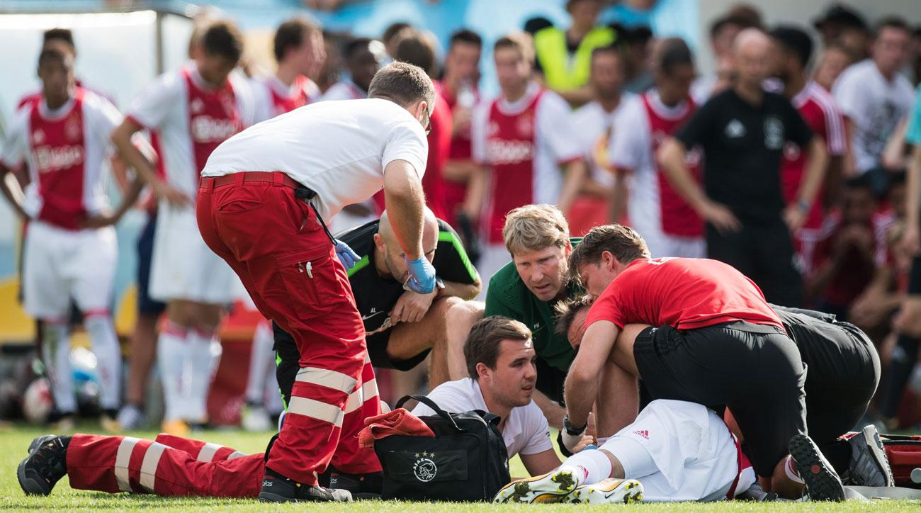 Ajax's Abdelhak Nouri collapsed in a friendly vs. Werder Bremen
