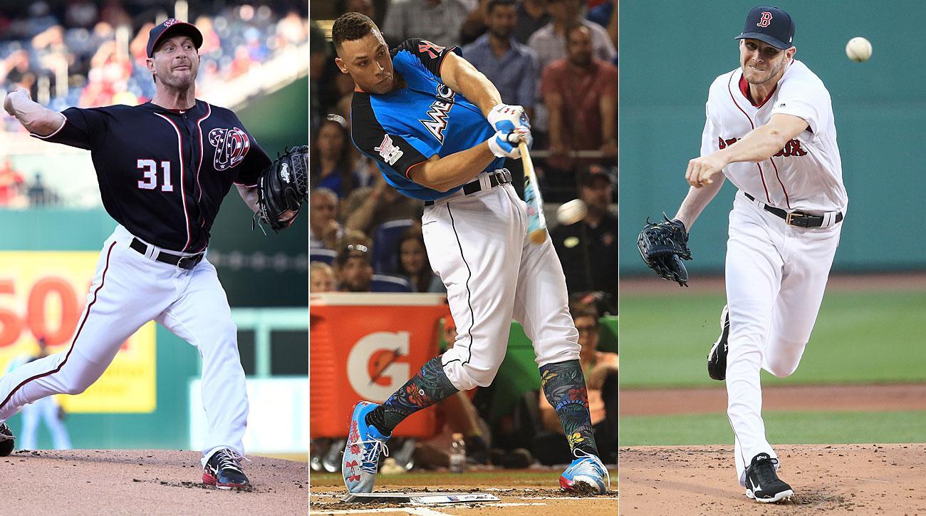 Max Scherzer, Washington Nationals; Aaron Judge, New York Yankees; Chris Sale, Boston Red Sox