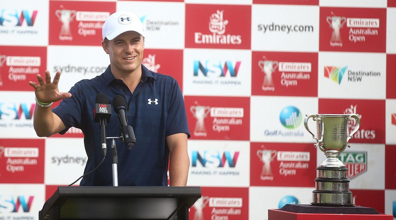 Jordan Spieth speaks after winning the 2016 Australian Open.