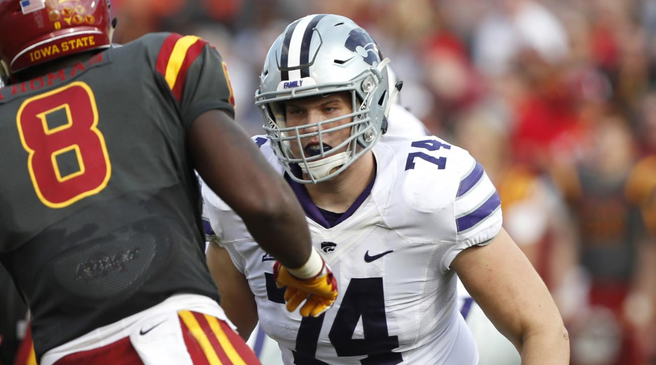 Kansas State starting tackle Scott Frantz announces he's gay in ESPN interview