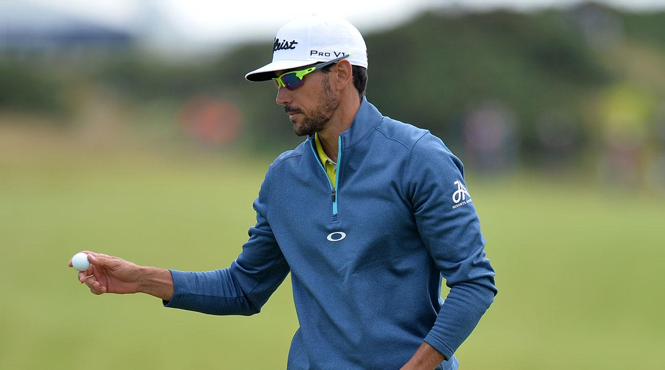Rafa Cabrera Bello putting at the 1st hole during day four of the 2017 Aberdeen Asset Management Scottish Open.